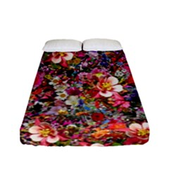 Psychedelic Flower Fitted Sheet (full/ Double Size) by BangZart