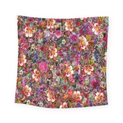 Psychedelic Flower Square Tapestry (small) by BangZart