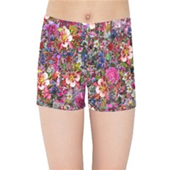 Psychedelic Flower Kids Sports Shorts by BangZart
