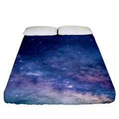 Galaxy Nebula Astro Stars Space Fitted Sheet (king Size) by paulaoliveiradesign