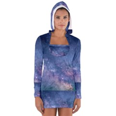 Galaxy Nebula Astro Stars Space Long Sleeve Hooded T Shirt