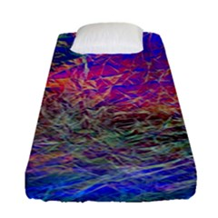 Poetic Cosmos Of The Breath Fitted Sheet (single Size) by BangZart