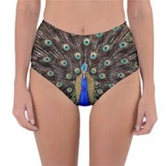 Peacock Reversible High Waist Bikini Bottoms