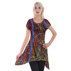 Neurobiology Short Sleeve Side Drop Tunic by BangZart