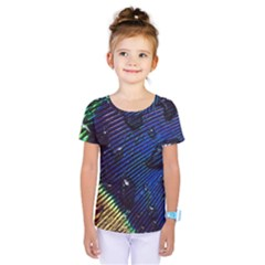 Peacock Feather Retina Mac Kids  One Piece Tee