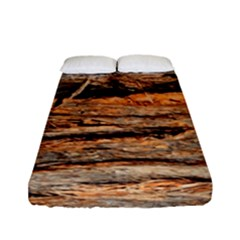 Natural Wood Texture Fitted Sheet (full/ Double Size) by BangZart