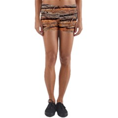 Natural Wood Texture Yoga Shorts by BangZart