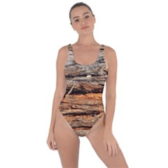 Natural Wood Texture Bring Sexy Back Swimsuit