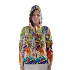 Multicolor Anime Colors Colorful Hooded Wind Breaker (women) by BangZart