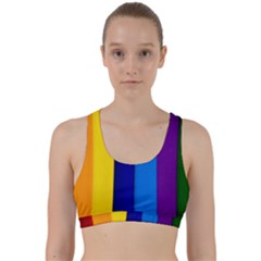 Paper Rainbow Colorful Colors Back Weave Sports Bra