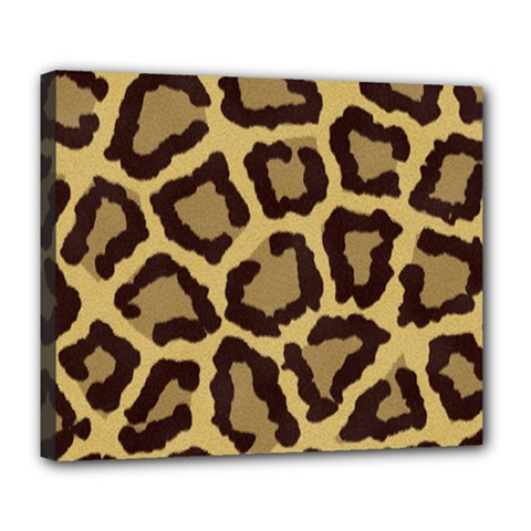 Leopard Deluxe Canvas 24  X 20   by BangZart
