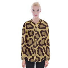 Leopard Womens Long Sleeve Shirt