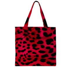 Leopard Skin Zipper Grocery Tote Bag by BangZart