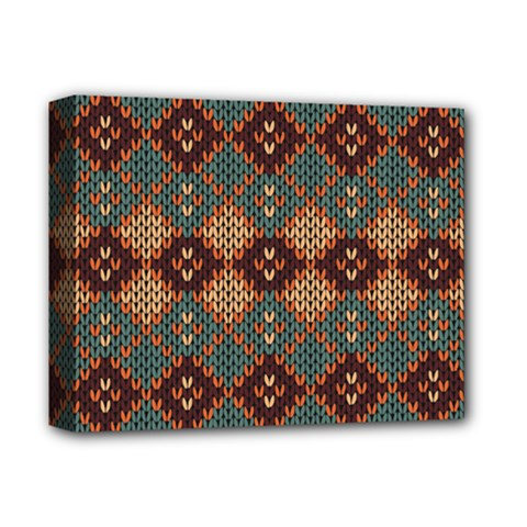 Knitted Pattern Deluxe Canvas 14  X 11  by BangZart