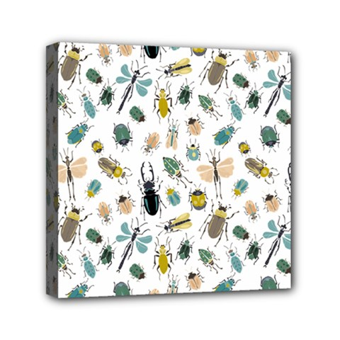 Insect Animal Pattern Mini Canvas 6  X 6  by BangZart