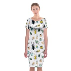 Insect Animal Pattern Classic Short Sleeve Midi Dress