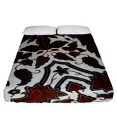 Javanese Batik Fitted Sheet (queen Size) by BangZart