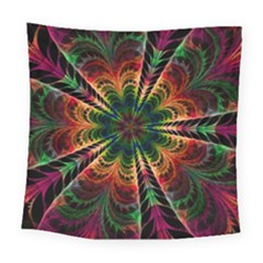 Kaleidoscope Patterns Colors Square Tapestry (large)
