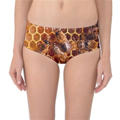 Honey Bees Mid Waist Bikini Bottoms by BangZart