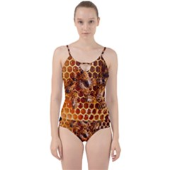 Honey Bees Cut Out Top Tankini Set