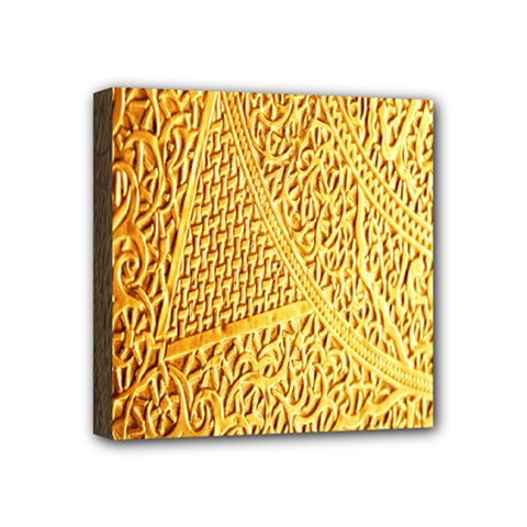 Gold Pattern Mini Canvas 4  X 4