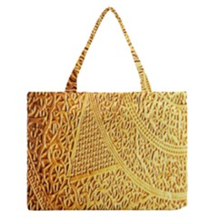 Gold Pattern Medium Zipper Tote Bag by BangZart