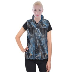 Fractal Tangled Minds Women s Button Up Puffer Vest