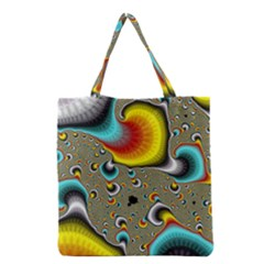 Fractals Random Bluray Grocery Tote Bag by BangZart