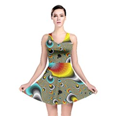 Fractals Random Bluray Reversible Skater Dress by BangZart