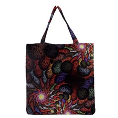 Fractal Swirls Grocery Tote Bag