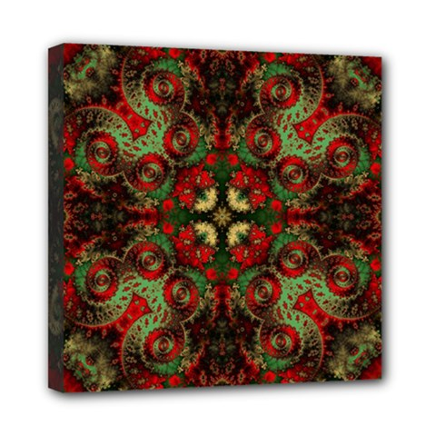 Fractal Kaleidoscope Mini Canvas 8  X 8  by BangZart