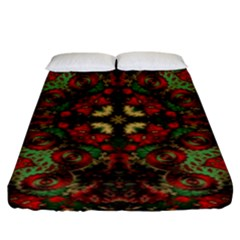 Fractal Kaleidoscope Fitted Sheet (king Size) by BangZart