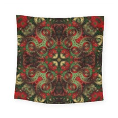 Fractal Kaleidoscope Square Tapestry (small) by BangZart