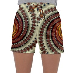 Fractal Pattern Sleepwear Shorts