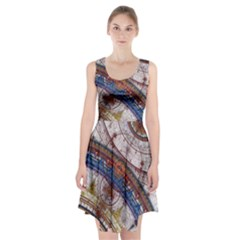 Fractal Circles Racerback Midi Dress