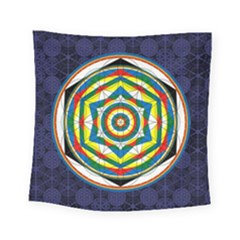 Flower Of Life Universal Mandala Square Tapestry (small) by BangZart