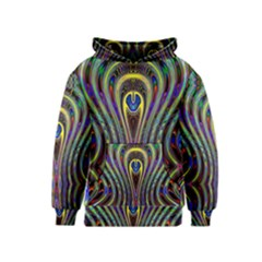 Curves Color Abstract Kids  Pullover Hoodie