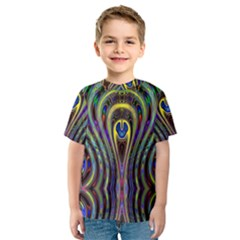 Curves Color Abstract Kids  Sport Mesh Tee