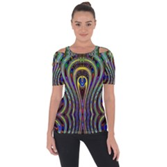 Curves Color Abstract Short Sleeve Top