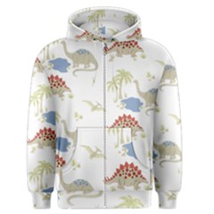 Dinosaur Art Pattern Men s Zipper Hoodie by BangZart
