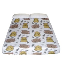 Cute Hamster Pattern Fitted Sheet (queen Size) by BangZart