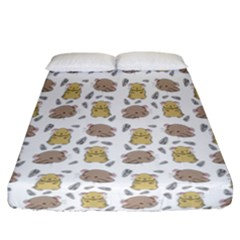 Cute Hamster Pattern Fitted Sheet (california King Size)