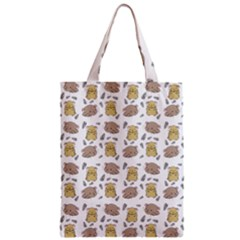 Cute Hamster Pattern Zipper Classic Tote Bag by BangZart