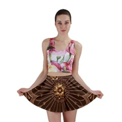 Decorative Antique Gold Mini Skirt