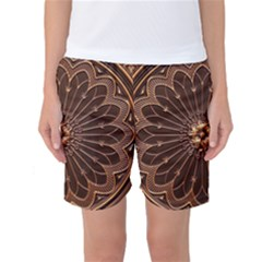 Decorative Antique Gold Women s Basketball Shorts
