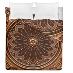 Decorative Antique Gold Duvet Cover Double Side (queen Size) by BangZart