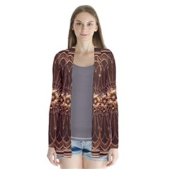 Decorative Antique Gold Drape Collar Cardigan