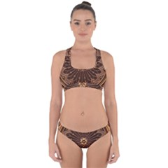 Decorative Antique Gold Cross Back Hipster Bikini Set