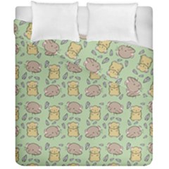 Cute Hamster Pattern Duvet Cover Double Side (california King Size) by BangZart
