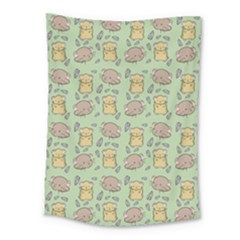 Cute Hamster Pattern Medium Tapestry